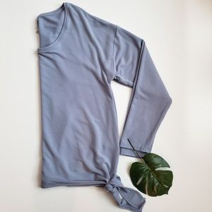 A New Day   Long Sleeve Side Tie Top